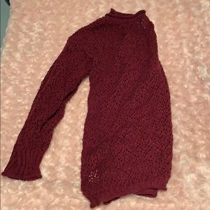 Maroon sweater from Pacsun